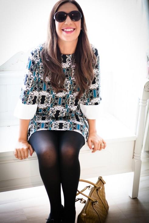 Shona Joy Bell Sleeve Dress Gucci Fashion Blogger