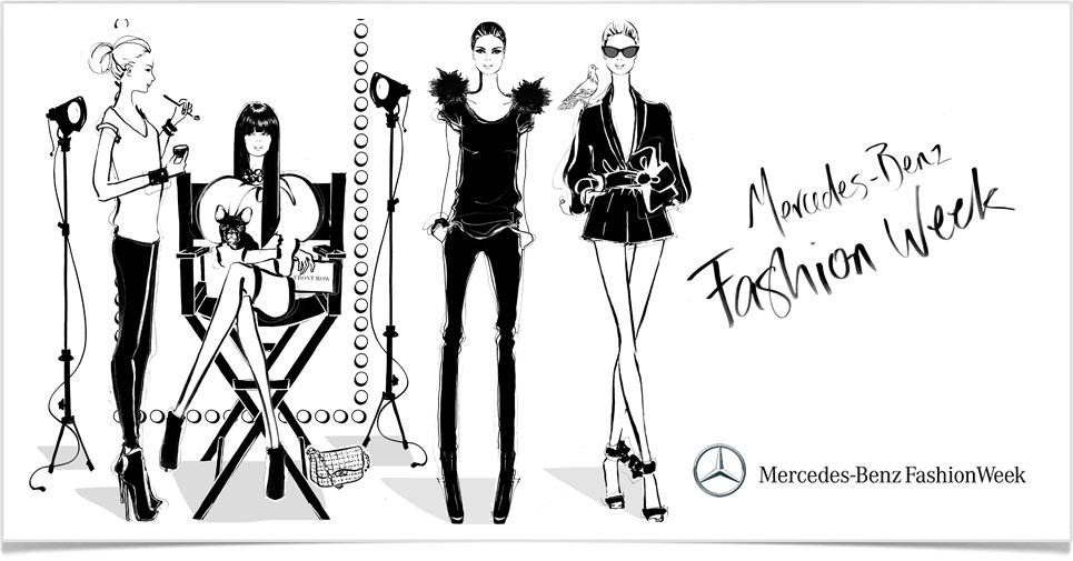MBFWA Illustration by Megan Hess