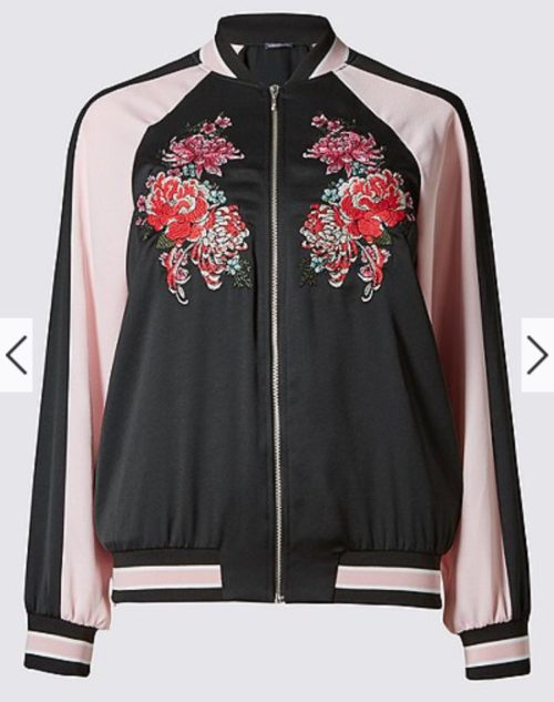 Marks and Spencer embroider bomber jacket