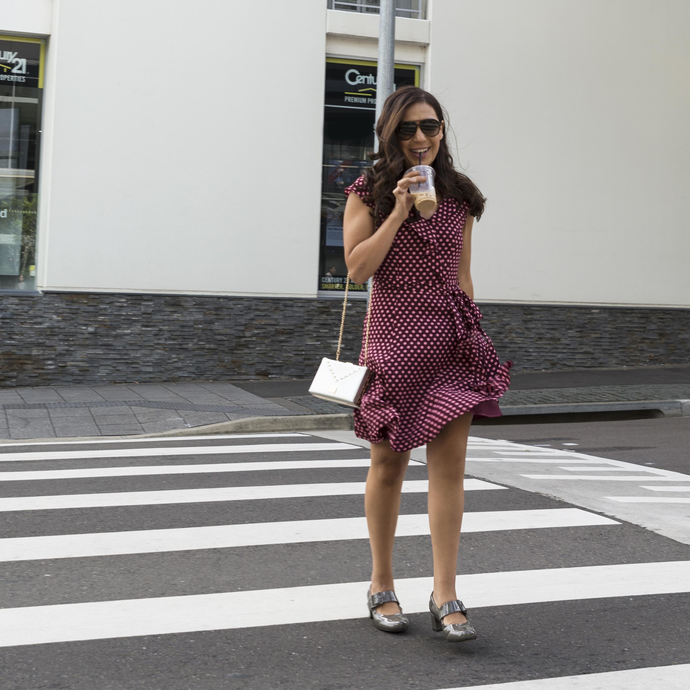 Review Dress Polka Dots